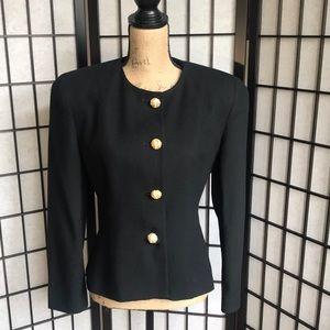 Vintage Christian Dior The Suit Black Wool Jacket